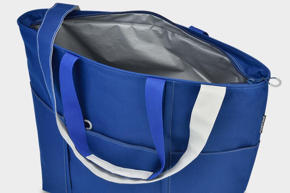 Bright Blue Cooler Tote Bag